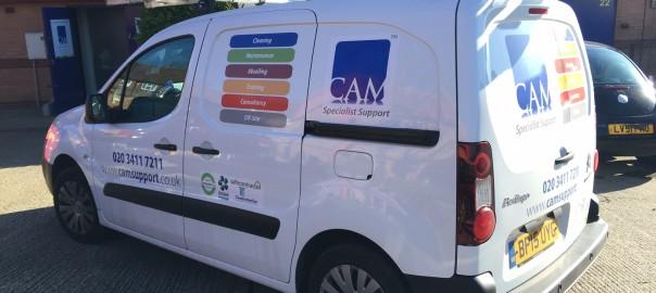 CAM Specialist Support van